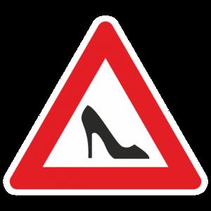 Знак «За рулём дама»_01006