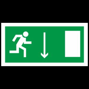 Знак E-09 «Указатель двери эвакуационного выхода (правосторонний)»_07611