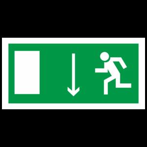 Знак E-10 «Указатель двери эвакуационного выхода (левосторонний)»_07612