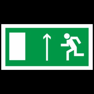 Знак E-11 «Направление к эвакуационному выходу прямо» (левосторонний)_07613