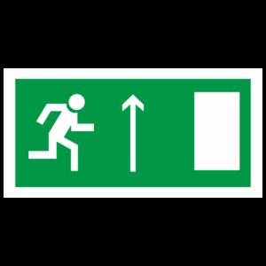 Знак E-12 «Направление к эвакуационному выходу прямо» (правосторонний)_07614