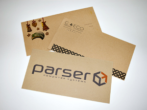 Крафт конверты с печатью