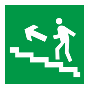 Знак E-16 «Направление к эвакуационному выходу (по лестнице вверх)»_07618