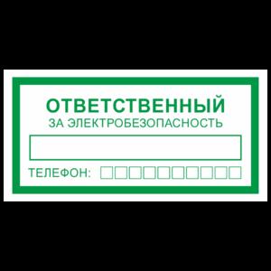 Знак «Ответственный за электробезопасность»_07718