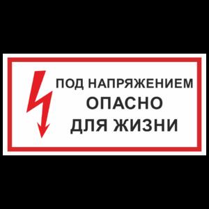 Знак «Под напряжением! Опасно для жизни»_07719