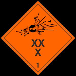 Знак 1.1 «Взрывчатые вещества и изделия»_07801