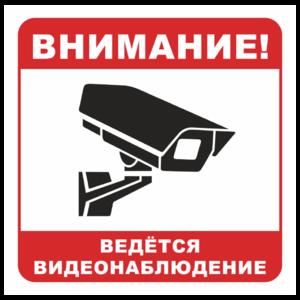 Знак «Вeдется видеонаблюдение», вариант 2_07902