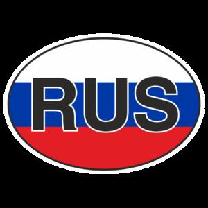 Знак «RUS» цвета флага_01003