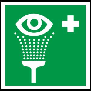 Знак EC-04 «Пункт обработки глаз»_07504