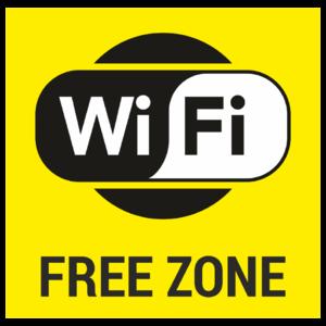 Знак «Wi-Fi free», жёлтый фон_07731