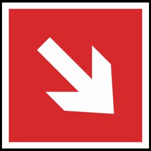 Знак F-01-02 «Направляющая стрелка по углом 45»_04003