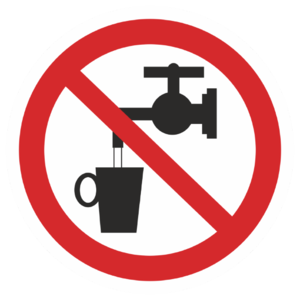 Знак P-05«Запрещается использовать в качестве питьевой воды»_07305