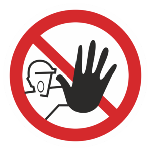 Знак P-06 «Доступ посторонним запрещен»_07306