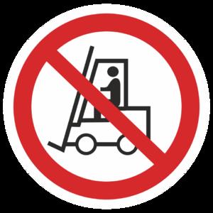Знак P-07«Запрещается движение средств напольного транспорта»_07307