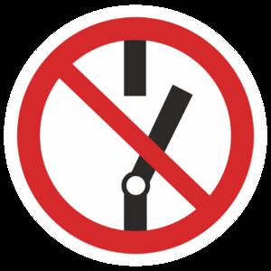 Знак P-10«Не включать!»_07310