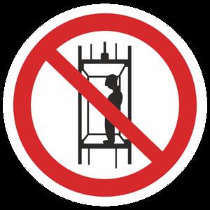 Знак P-13«Запрещается подъем (спуск) людей по шахтному стволу»_07313