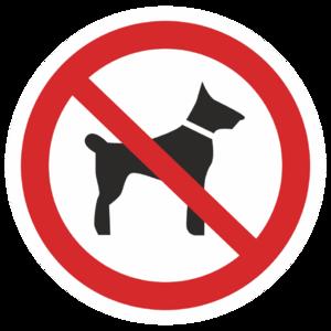 Знак P-14«Запрещается вход (проход) с животными»_07314