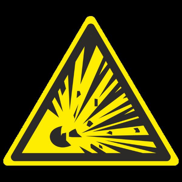 Знак W-02 «Взрывоопасно»_07002