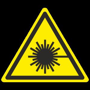 Знак  W-10 «Опасно. Лазерное излучение»_07010