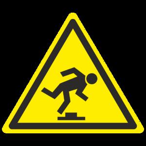 Знак W-14 «Осторожно. Малозаметное препятствие»_07014