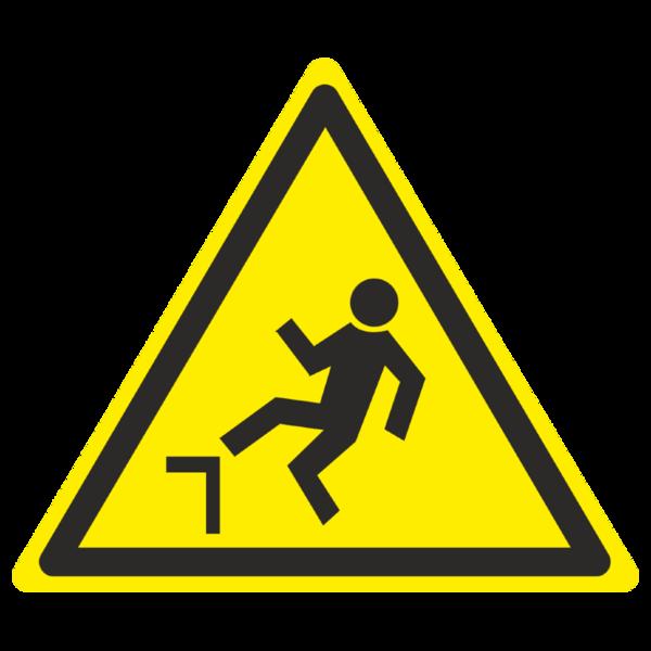 Знак W-15 «Осторожно. Возможно падение с высоты»_07015