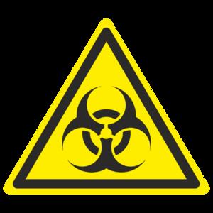 Знак W-16 «Осторожно. Биологическая опасность (инфекционные вещества)»_ 07016