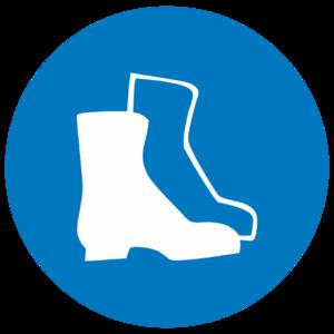 Знак M-05«Работать в защитной обуви»_07405