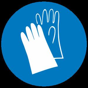 Знак  M-06«Работать в защитных перчатках»_07406