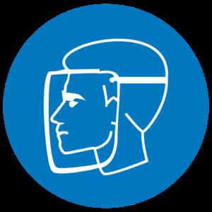 Знак M-08«Работать в защитном щитке»_07408