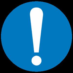 Знак M-11 «Общий предписывающий Знак на пленке (прочие предписания)»_074011