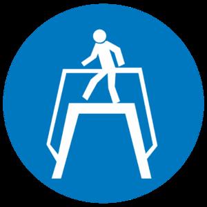 Знак M-12«Переходить по надземному переходу»_074012