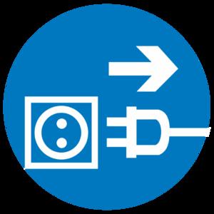 Знак M-13«Отключить штепсельную вилку»_074013