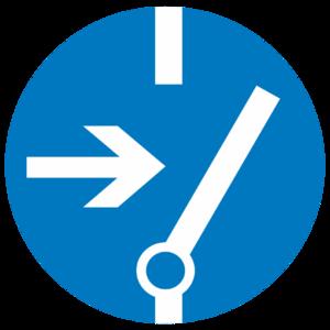 Знак  M-14«Отключить перед работой»_074014