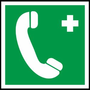 Знак EC-06 «Телефон связи с медицинским пунктом (скорой медицинской помощью)»_07506