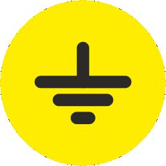 Знак «Заземление» круглый_07214